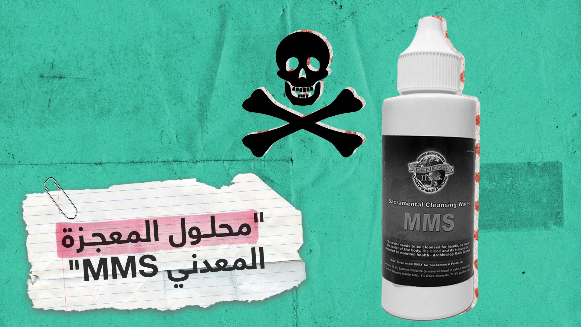 """""""محلول المعجزة المعدني"""" MMS.. حيلة أمريكي لاستغلال حاجة مرضى كورونا للعلاج"""