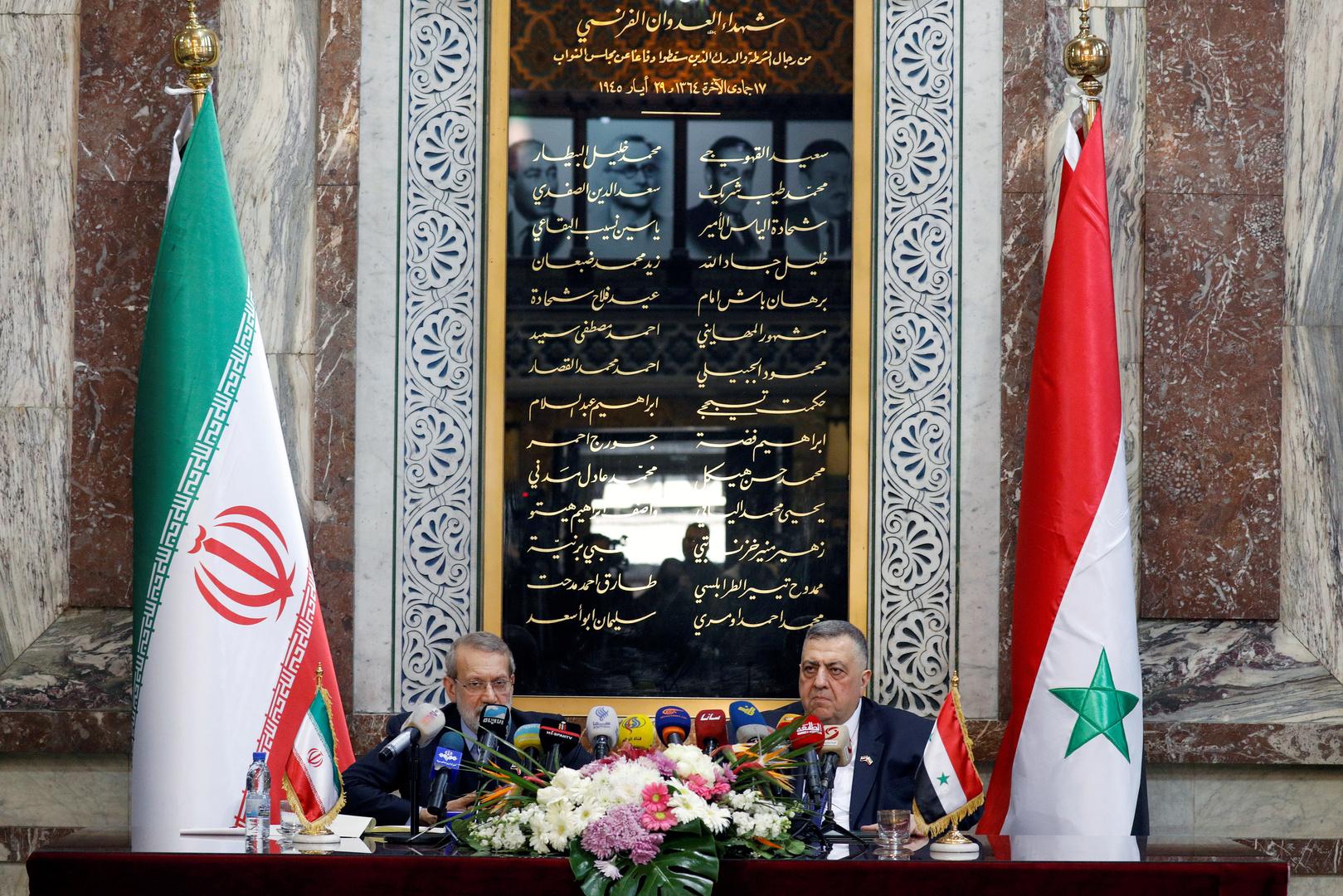 إيران تؤكد أن تعاونها العسكري والاقتصادي مع سوريا سيتعزز أكثر من السابق