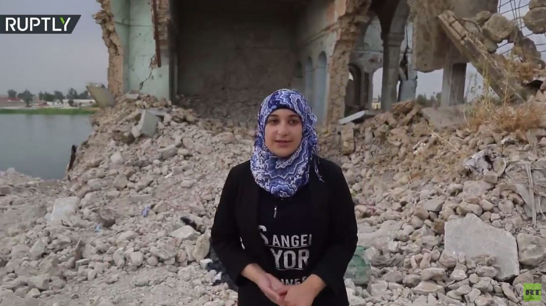 ممرضة عراقية تقود