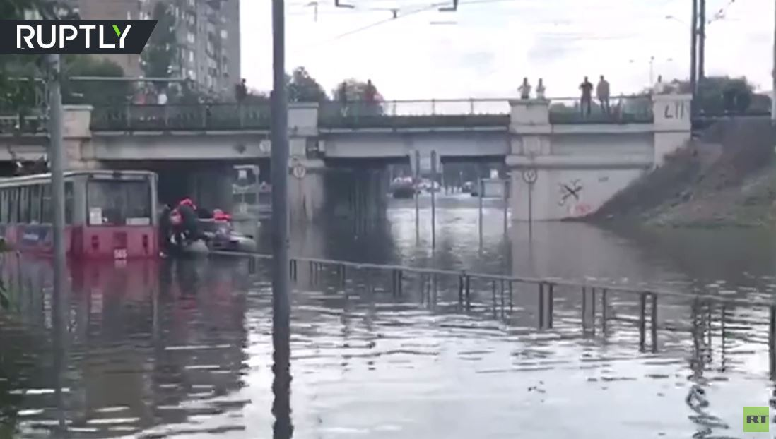 فيضانات في إقليم كراسنودار الروسي