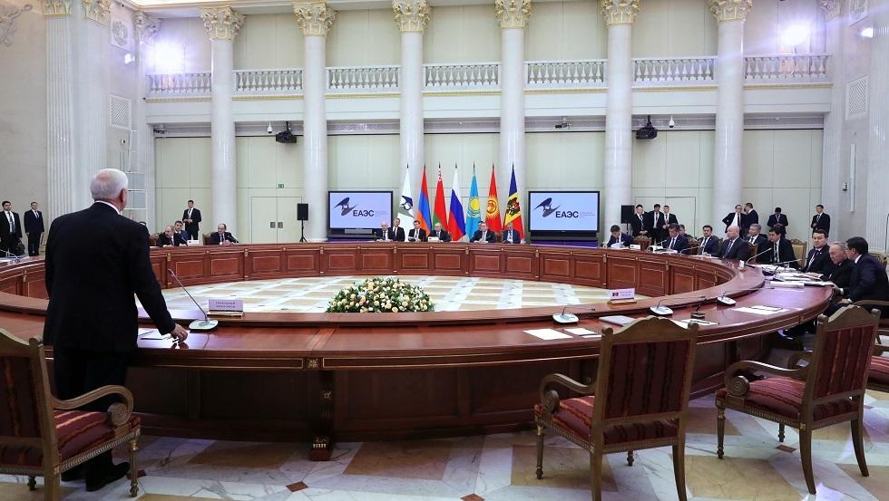 اجتماع للمجلس الأعلى الاقتصادي الأوراسي (صورة من الأرشيف)