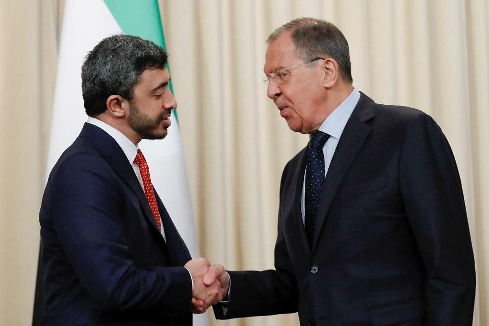 الخارجية الروسية: لافروف وبن زايد بحثا الملف الليبي وشددا على ضرورة إنهاء القتال