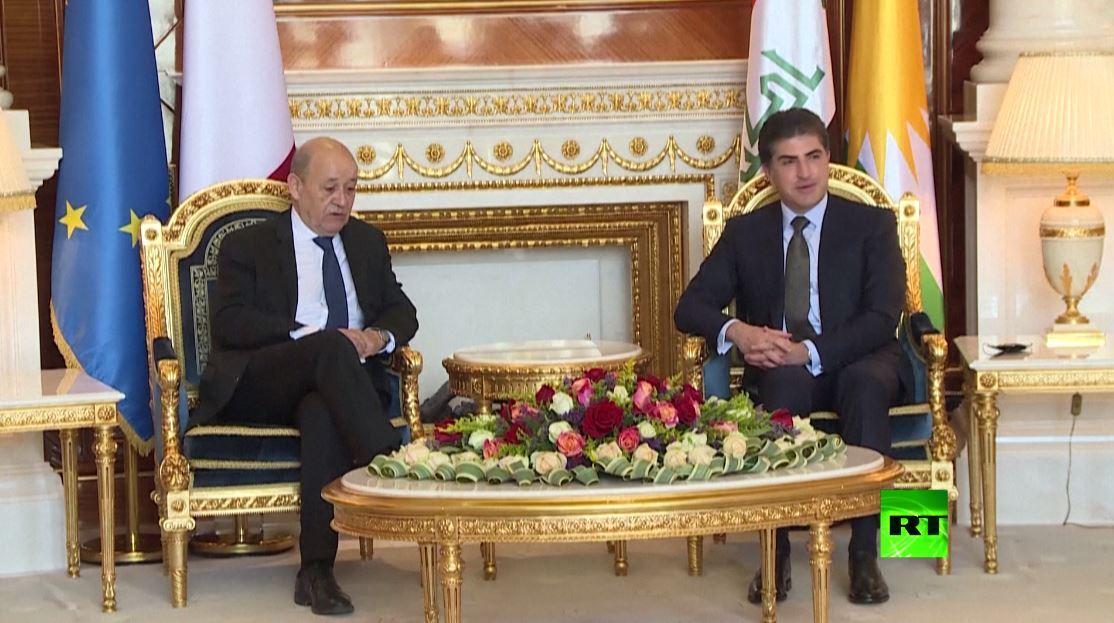 وزير الخارجية الفرنسي في كردستان العراق