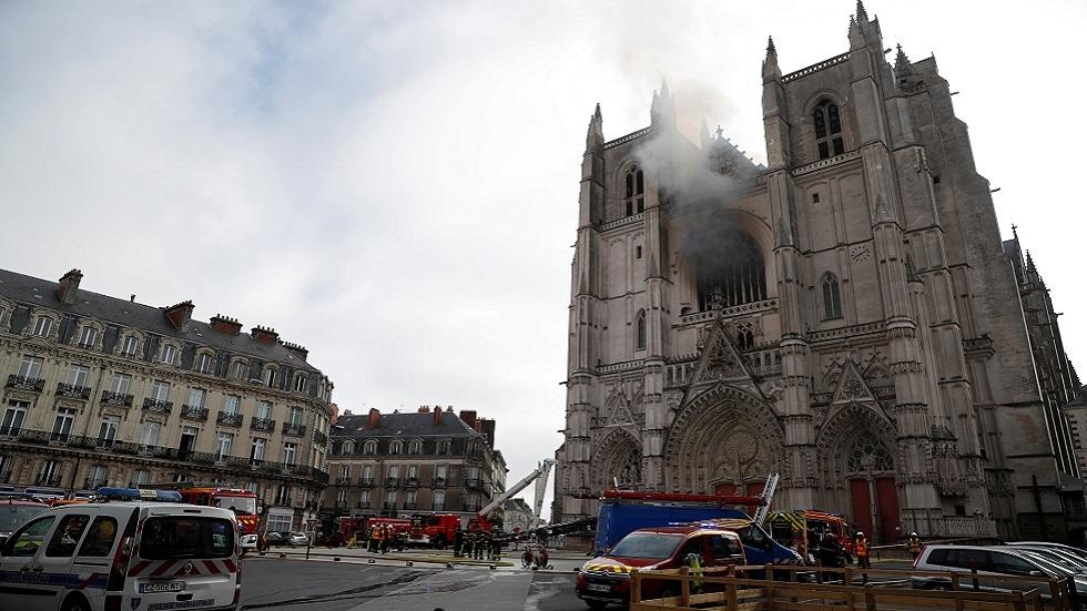 توقيف مشتبه به بعد حريق كاتدرائية نانت الفرنسية