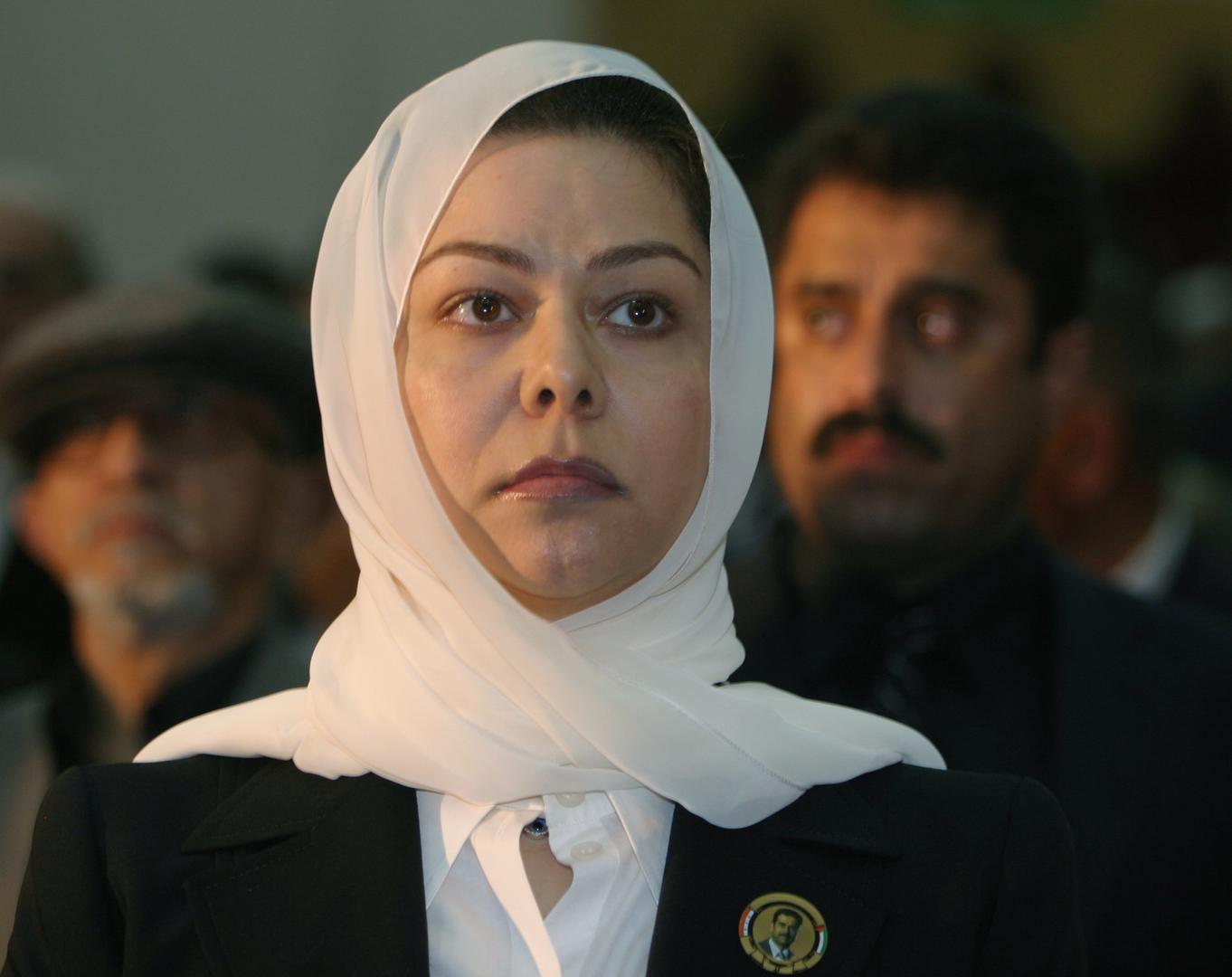 رغد صدام حسين تنعى وزير الدفاع الأسبق