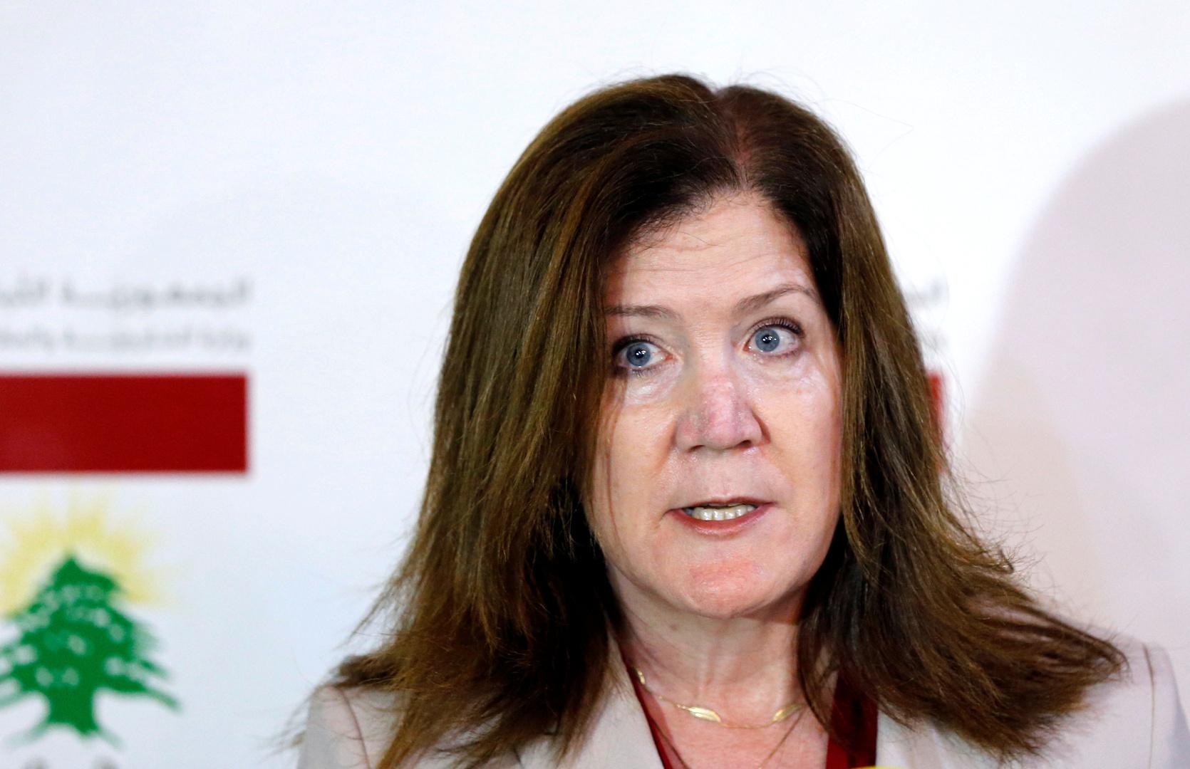 السفيرة الأمريكية: واشنطن لا تحرم اللبنانيين من الدولارات