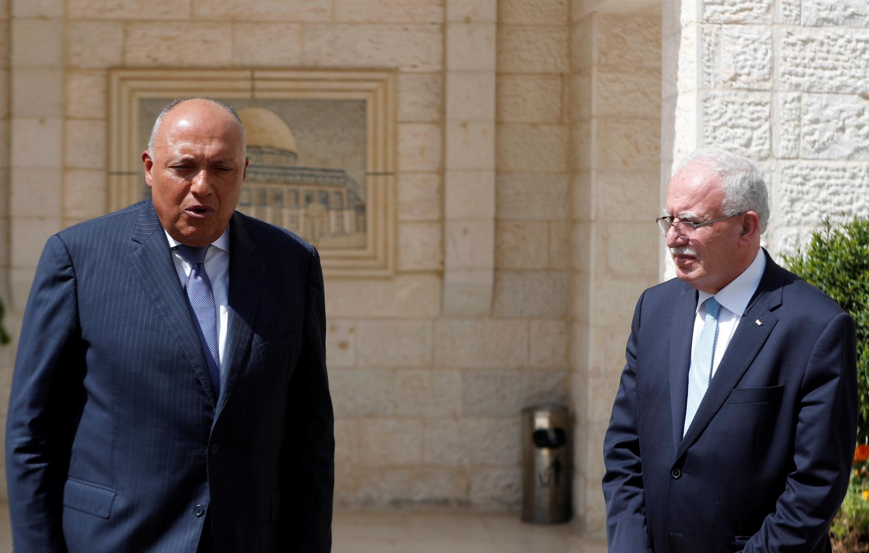 شكري يجدد موقف مصر الرافض لضم إسرائيل أجزاء من الضفة الغربية
