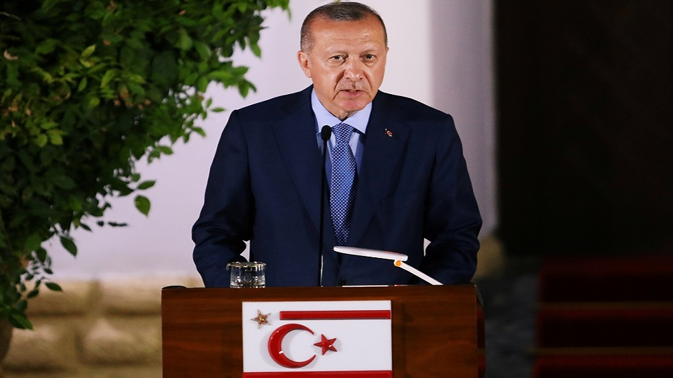 أردوغان: لا حل في قبرص إلا بقبول حق المساواة للقبارصة الأتراك
