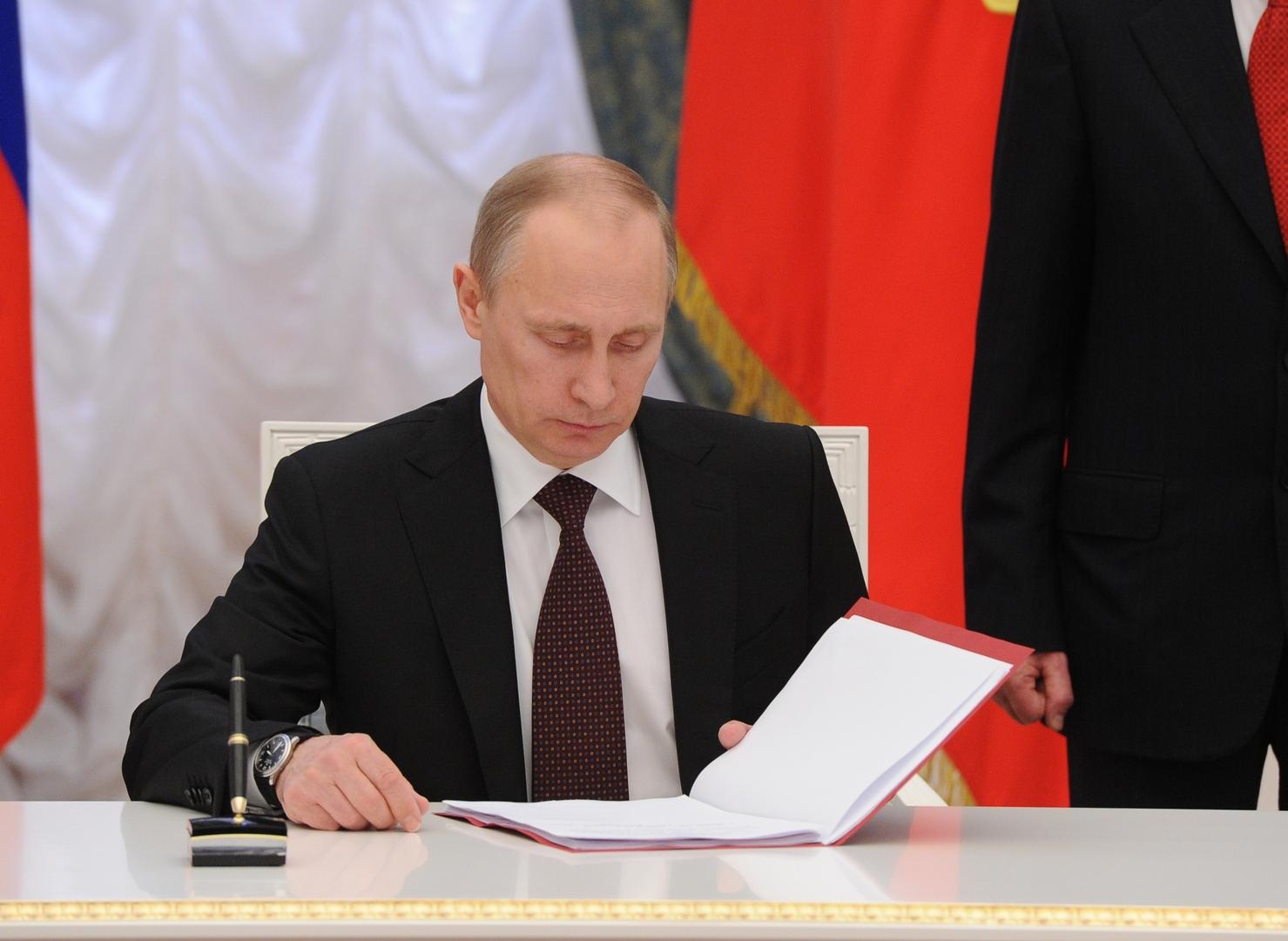 بوتين يوقع على قانون جديد لدعم الشركات المتضررة من كورونا