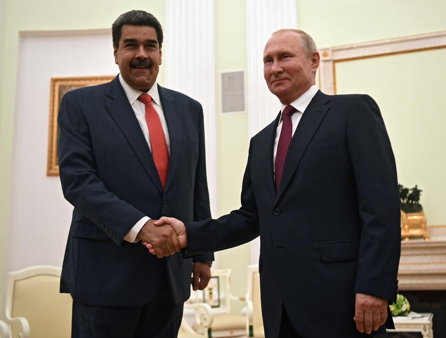 صورة من الأرشيف - الرئيسان الروسي والفنزويلي