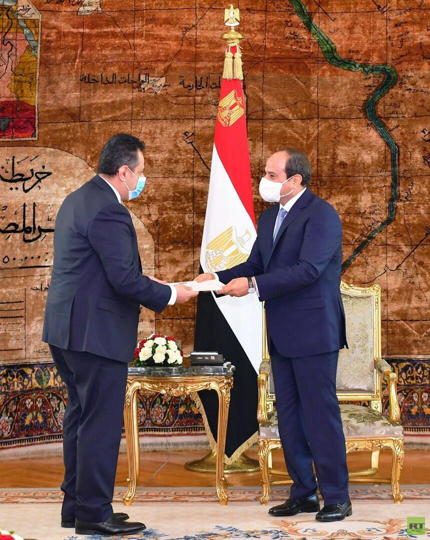 السيسي يتسلم رسالة من رئيس اليمن ويؤكد على ضرورة أمن البحر الأحمر