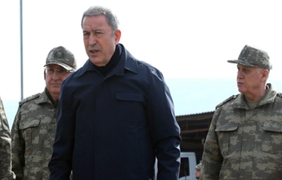 لقاء ثلاثي بين وزيري دفاع تركيا وقطر ووزير داخلية ليبيا في أنقرة (صور)