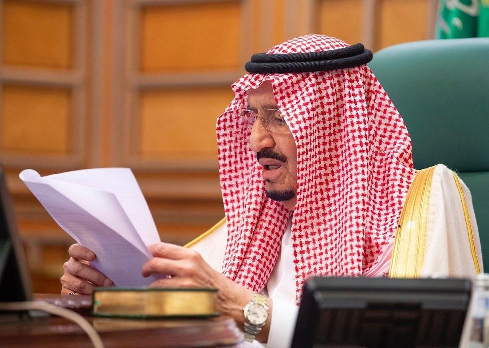 الملك سلمان يرأس جلسة مجلس الوزراء من المستشفى