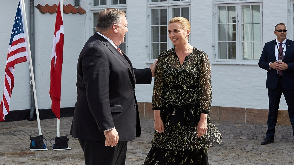بومبيو يزور الدنمارك بعد عام من توتر العلاقات حول جزيرة غرينلاند