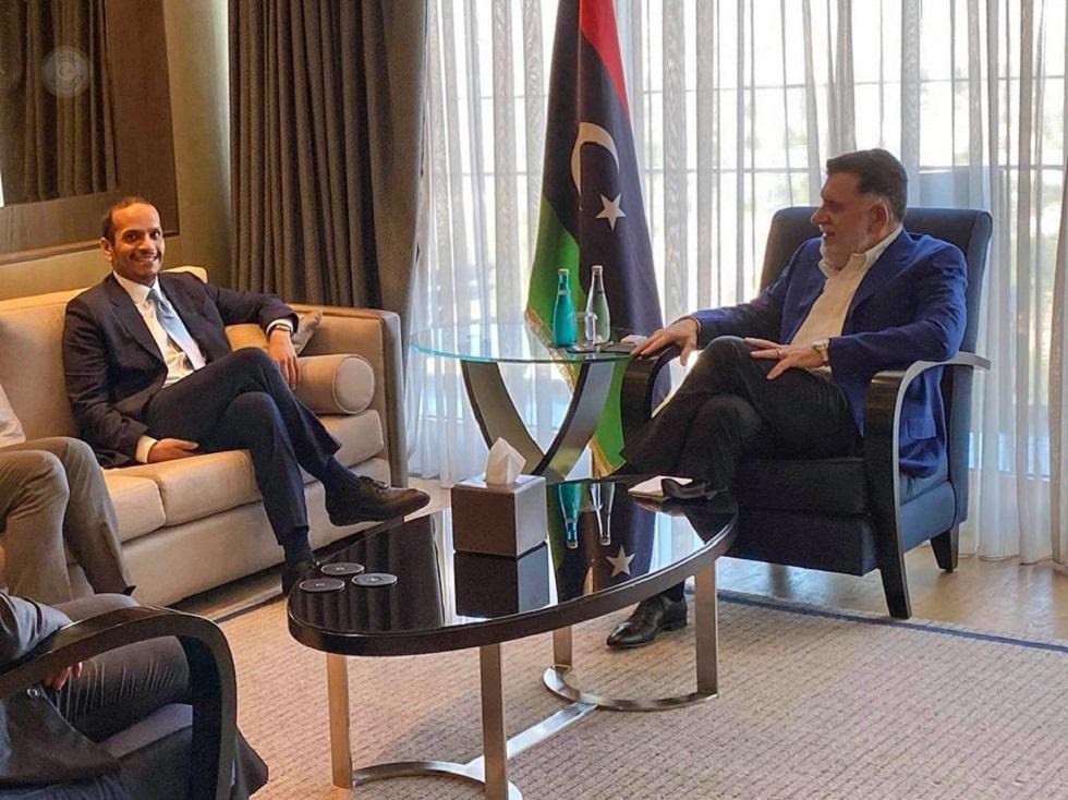 السراج يبحث مع وزير الخارجية القطري في اسطنبول مستجدات الوضع الليبي