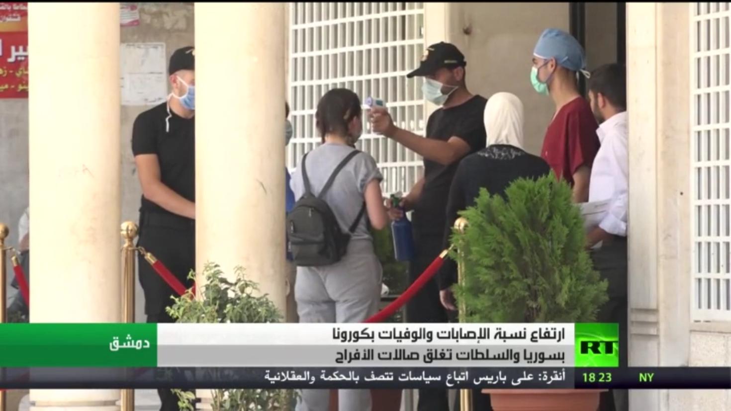 ارتفاع أعداد ضحايا كورونا في سوريا