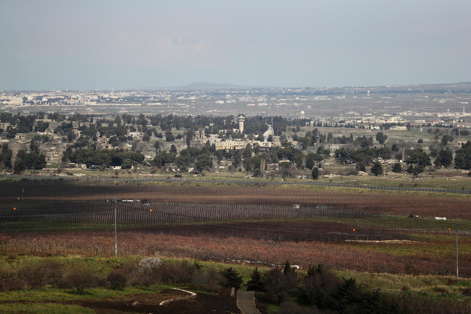 انفجار قذيفة قرب السياج الحدودي بين إسرائيل وسوريا