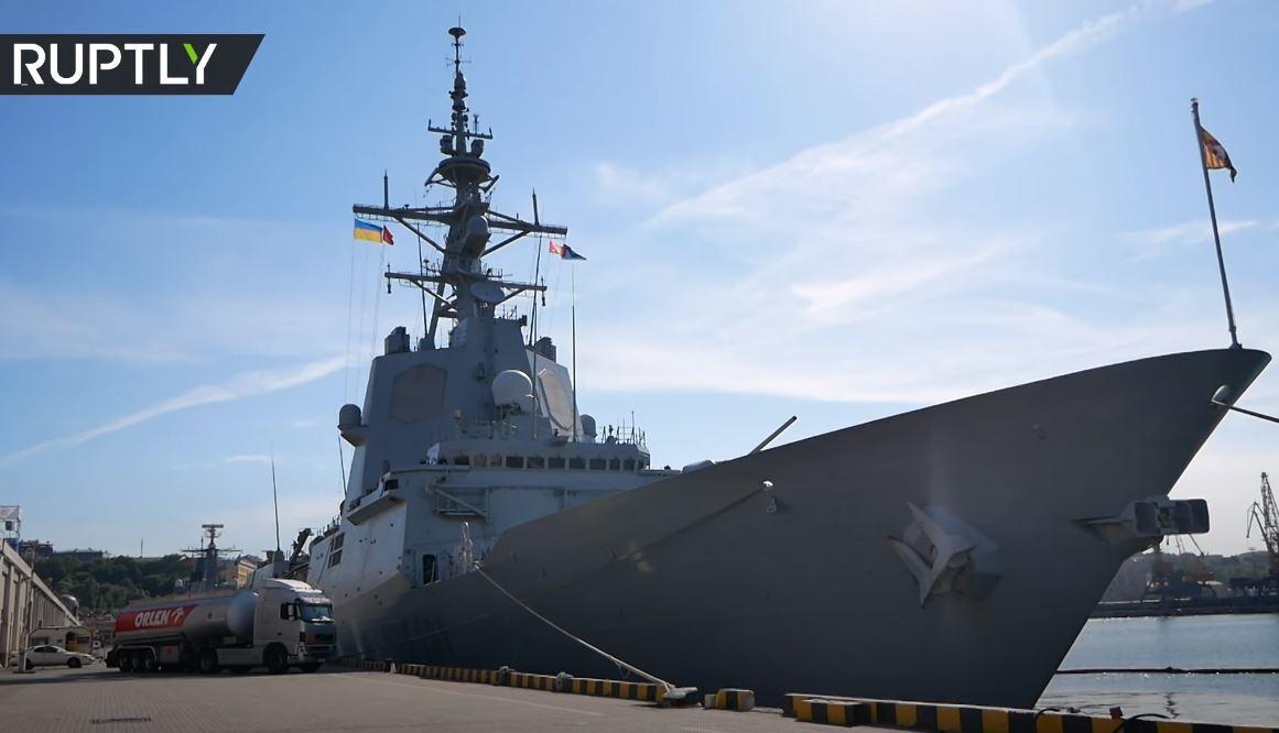 سفن الناتو تدخل مرفأ أوديسا الأوكراني