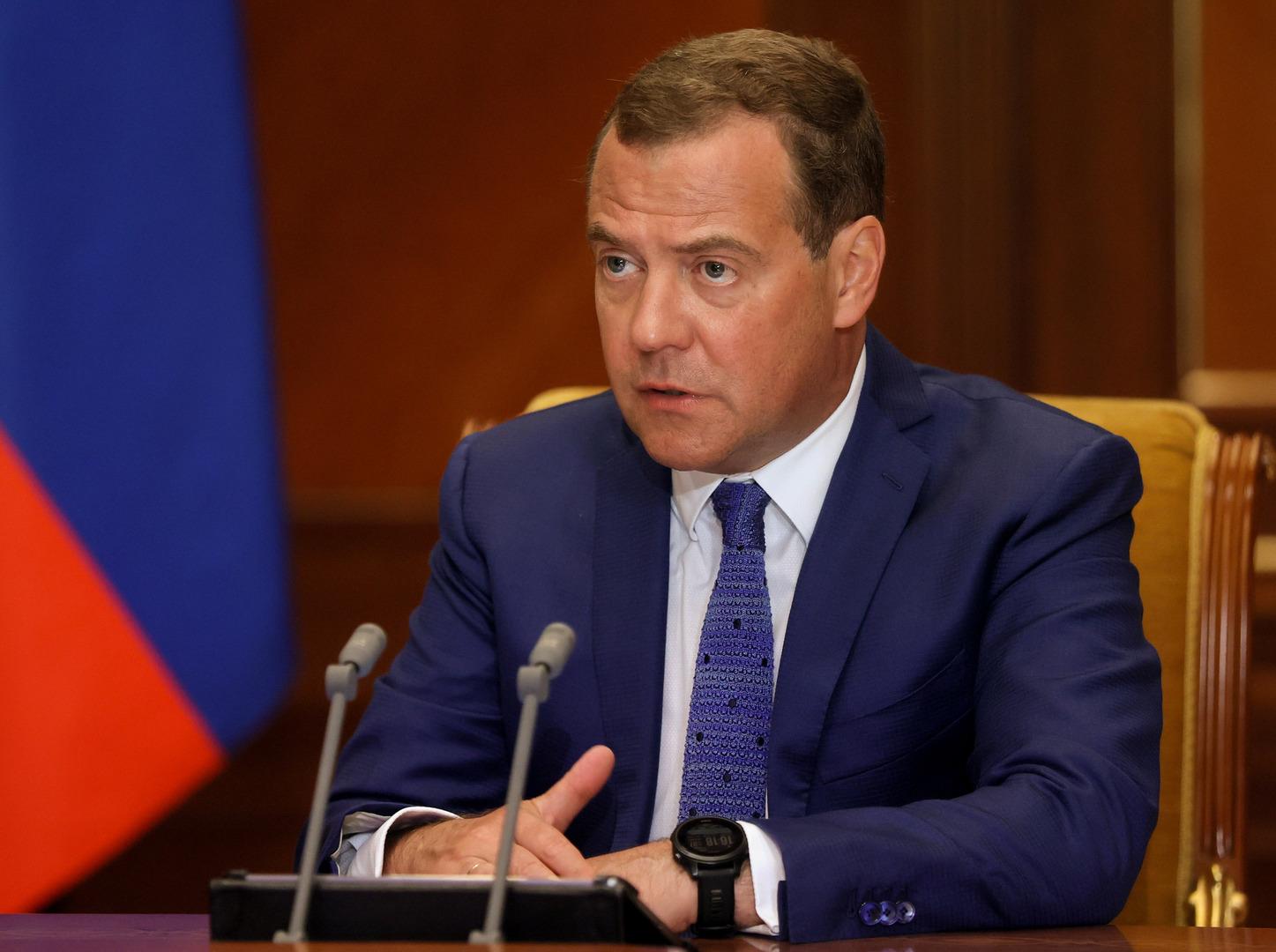 نائب رئيس مجلس الأمن الروسي، دميتري مدفيديف.