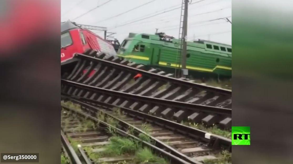 اصطدام قطارين في سان بطرسبورغ الروسية