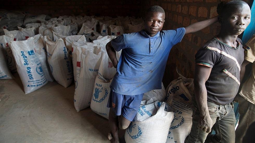 توزيع مساعدات غذاية في جمهورية إفريقيا الوسطى (صورة أرشيفية)