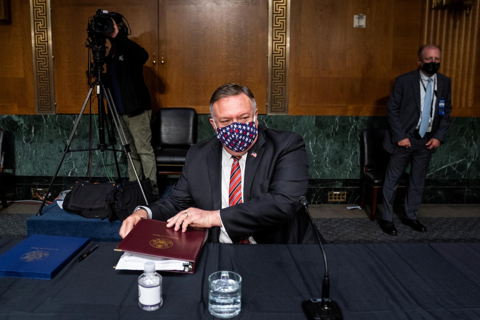 مايك بومبيو يحضر جلسة للجنة الشؤون الخارجية في مجلس الشيوخ