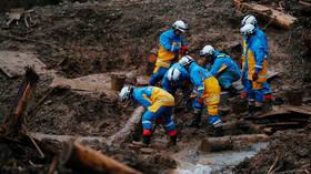 ارتفاع حصيلة ضحايا الفيضانات والانهيارات جنوب غرب اليابان إلى 70 شخصا
