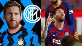 برشلونة يهدد بمقاضاة إدارة إنتر ميلان بسبب إعلان ميسي (صورة)
