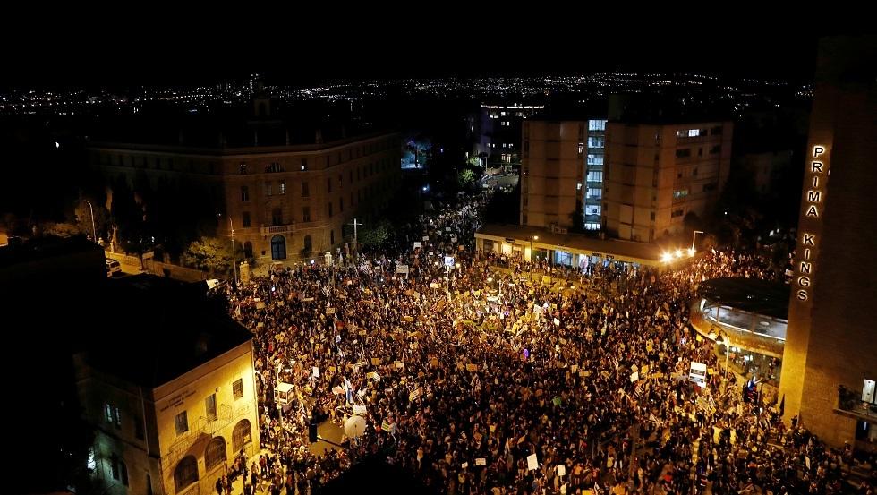شاهد.. أكثر من 10 آلاف شخص في أكبر مظاهرة ضد نتنياهو بالقدس