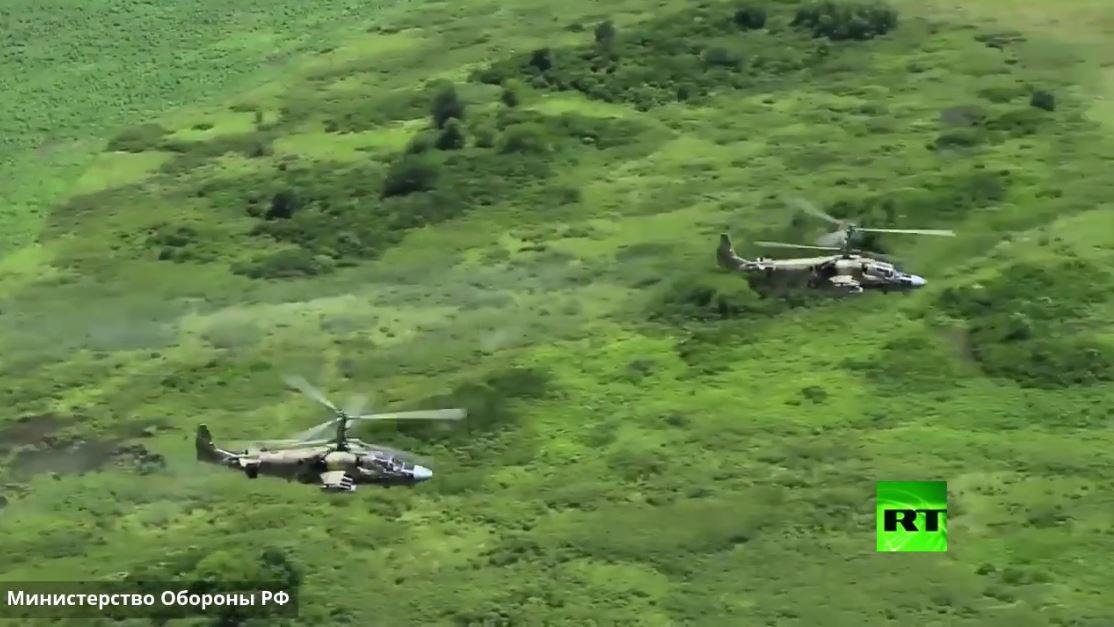 مناورات للمروحيات ضمن تدريبات الجيش الروسي شمال القوقاز