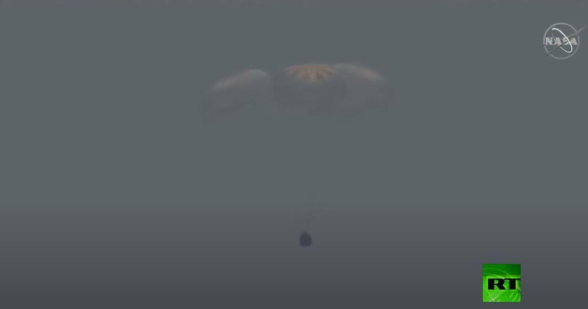 مركبة دراغون التابعة لسبيس إكس تهبط في خليج المكسيك