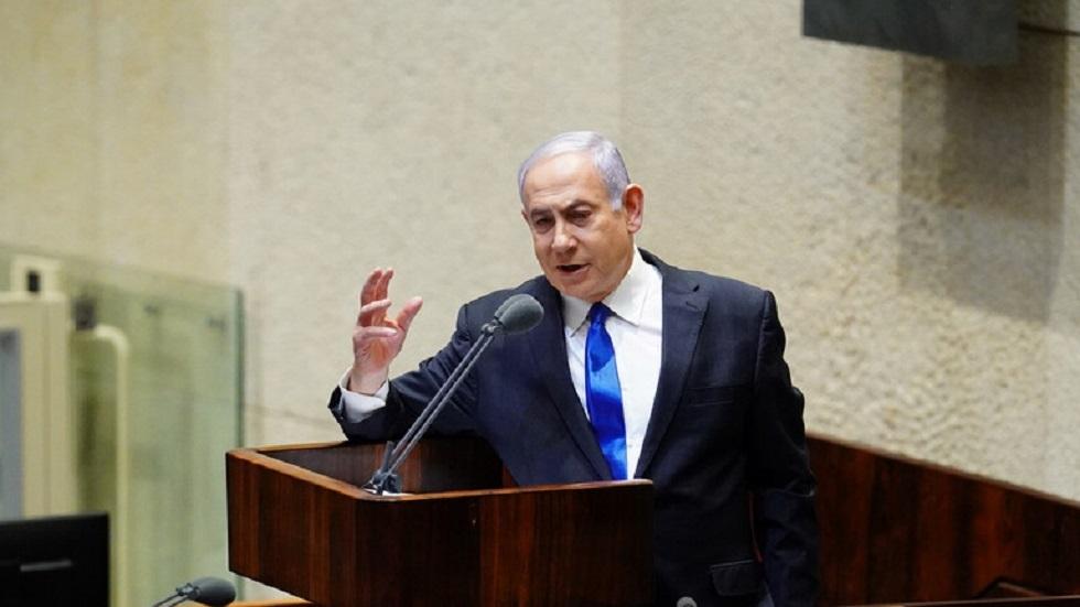 رئيس الوزراء الإسرائيلي بنيامين نتنياهو في الكنيست - أرشيف