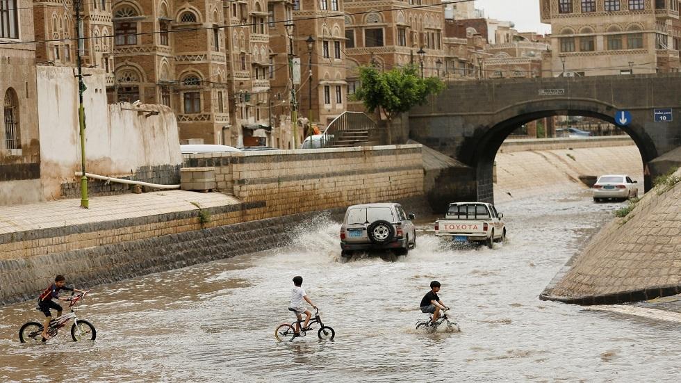 الفيضانات في مدينة صنعاء باليمن - أرشيف