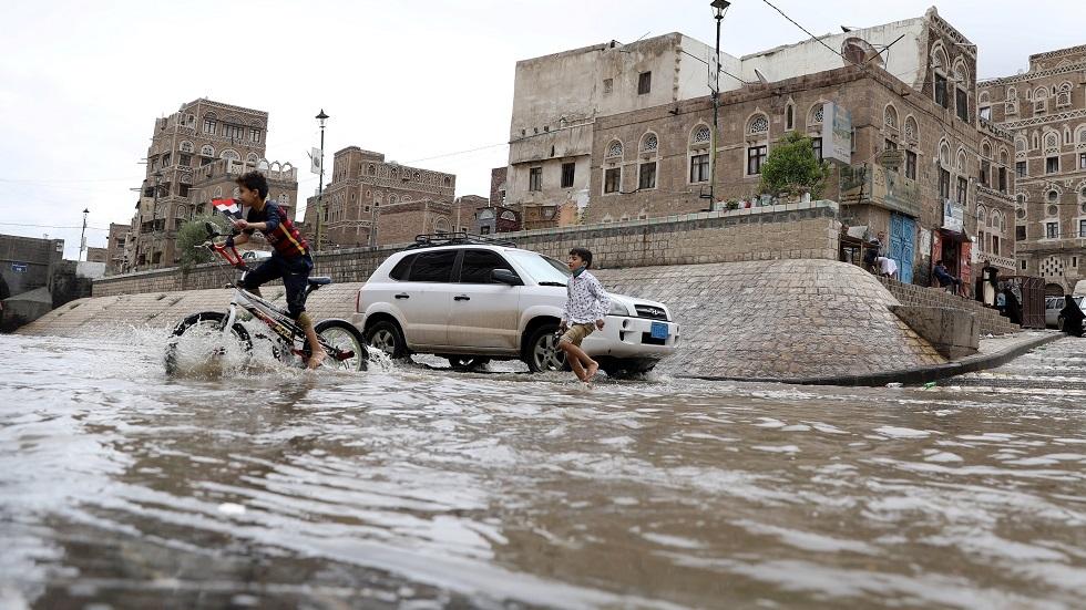 فيضان في صنعاء (صورة أرشيفية)