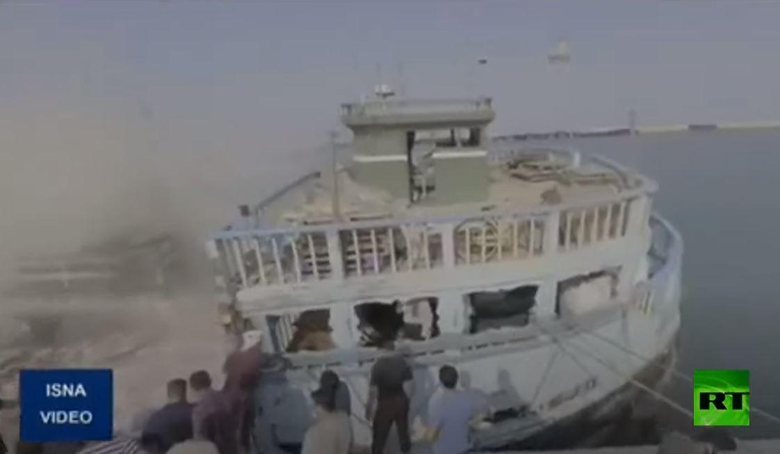 إخماد نيران اندلعت في سفينة إيرانية في الخليج