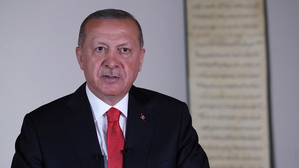 الرئيس لبتركي رجب طيب أردوغان يلقي كلمة متلفزة (صورة أرشيفية)