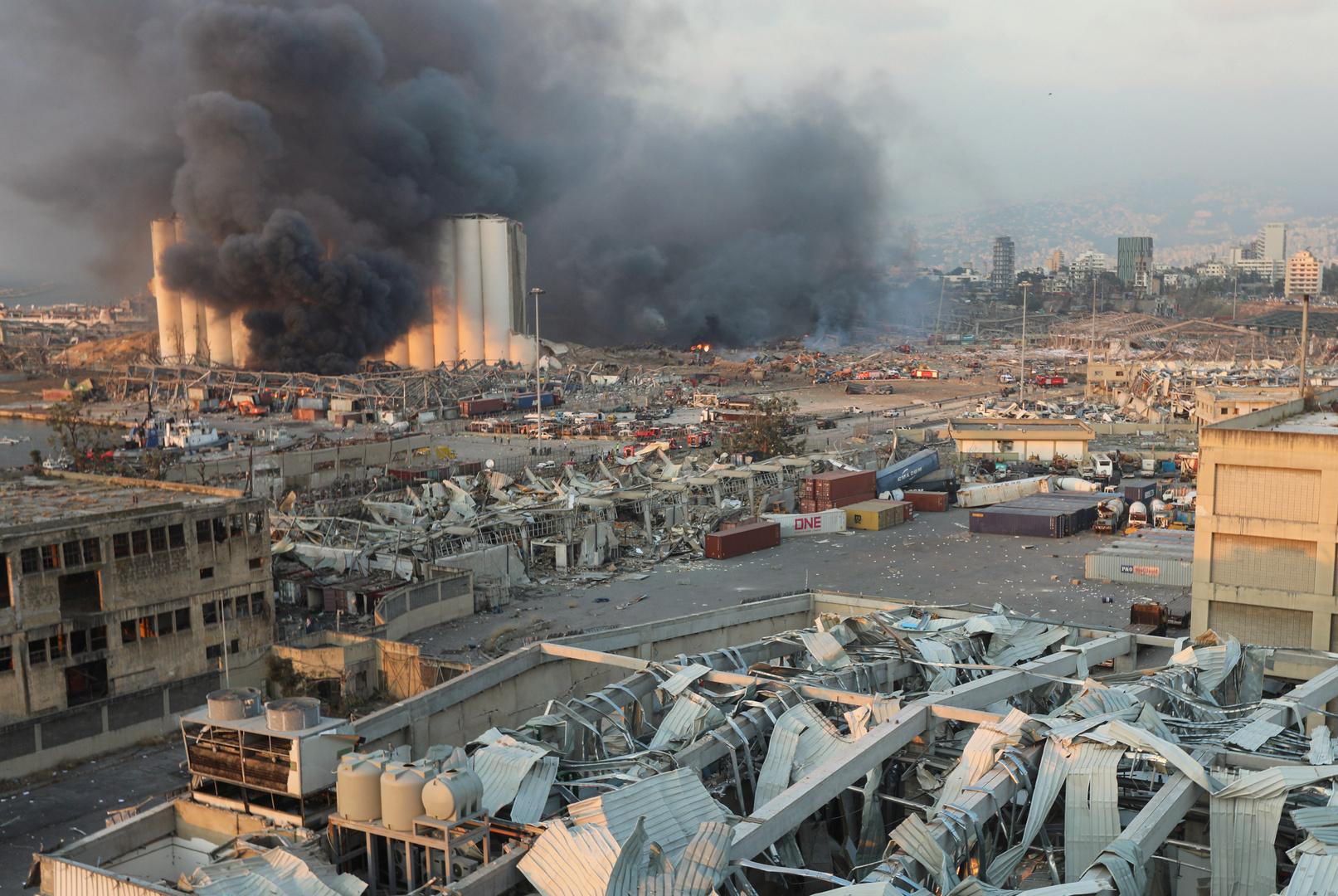 رويترز: 10 قتلى على الأقل بانفجار مرفأ بيروت