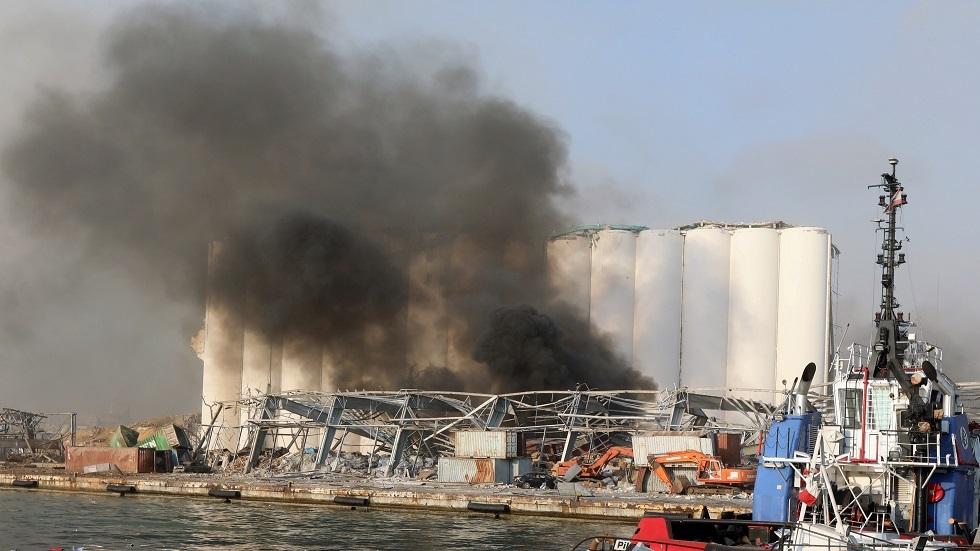 موقع الانفجار في مرفأ بيروت