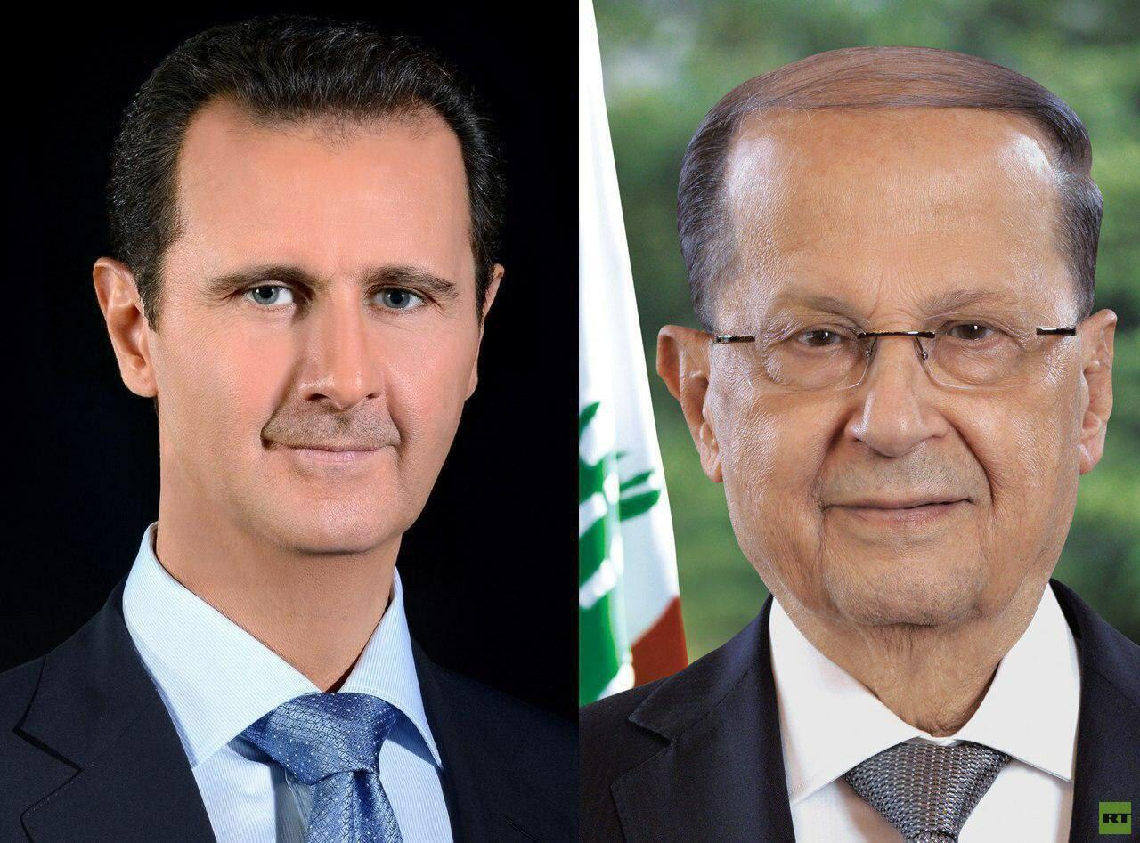 الأسد يبرق لعون مؤكدا الوقوف إلى جانب لبنان الشقيق والتضامن مع شعبه المقاوم