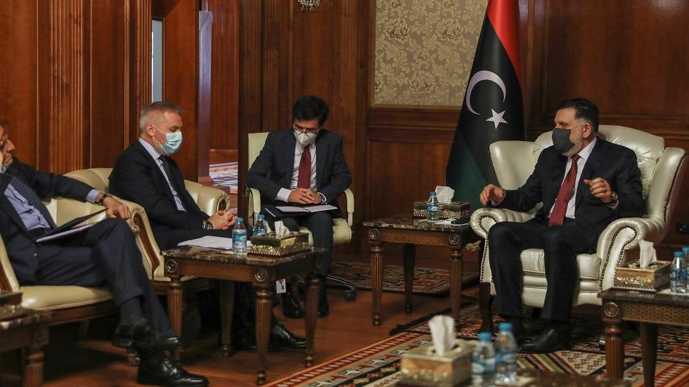 السراج يشدد لروما على أهمية المسار السياسي لحل الأزمة الليبية