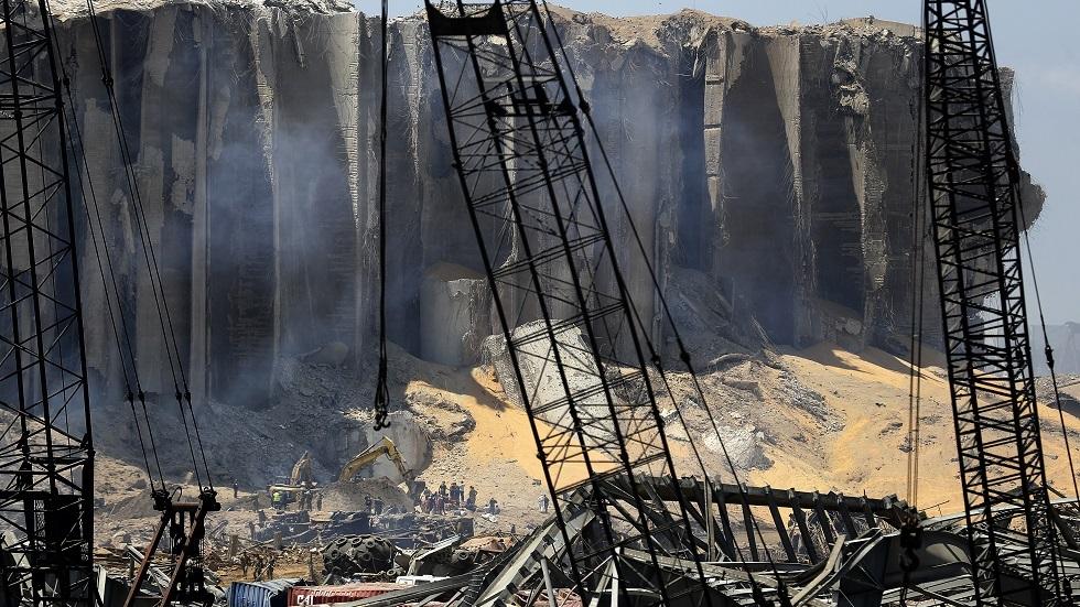 آثار الانفجار في مرفأ بيروت