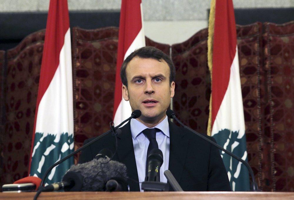 إيمانويل ماكرون يعقد مؤتمرا صحفيا في لبنان - صورة أرشيفية