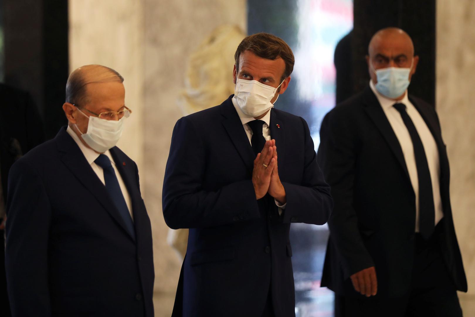 ماكرون يلتقي الرؤساء الثلاثة في بعبدا: أنا هنا اليوم لاقترح عليهم اتفاقا سياسيا جديدا