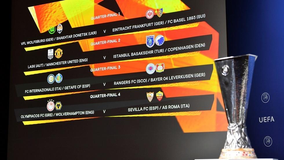 قائمة الأندية المتأهلة لربع نهائي الدوري الأوروبي ومواعيد المباريات