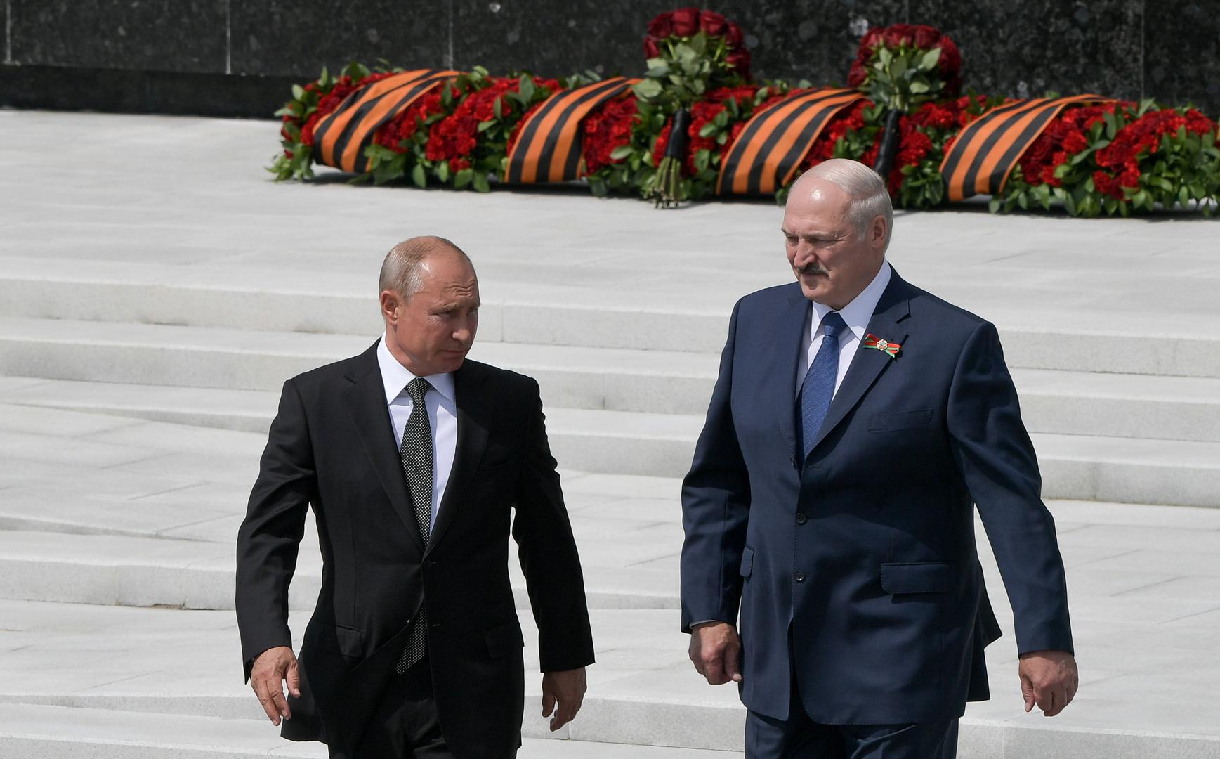 بوتين يبحث مع لوكاشينكو قضية المواطنين الروس المعتقلين في بيلاروس