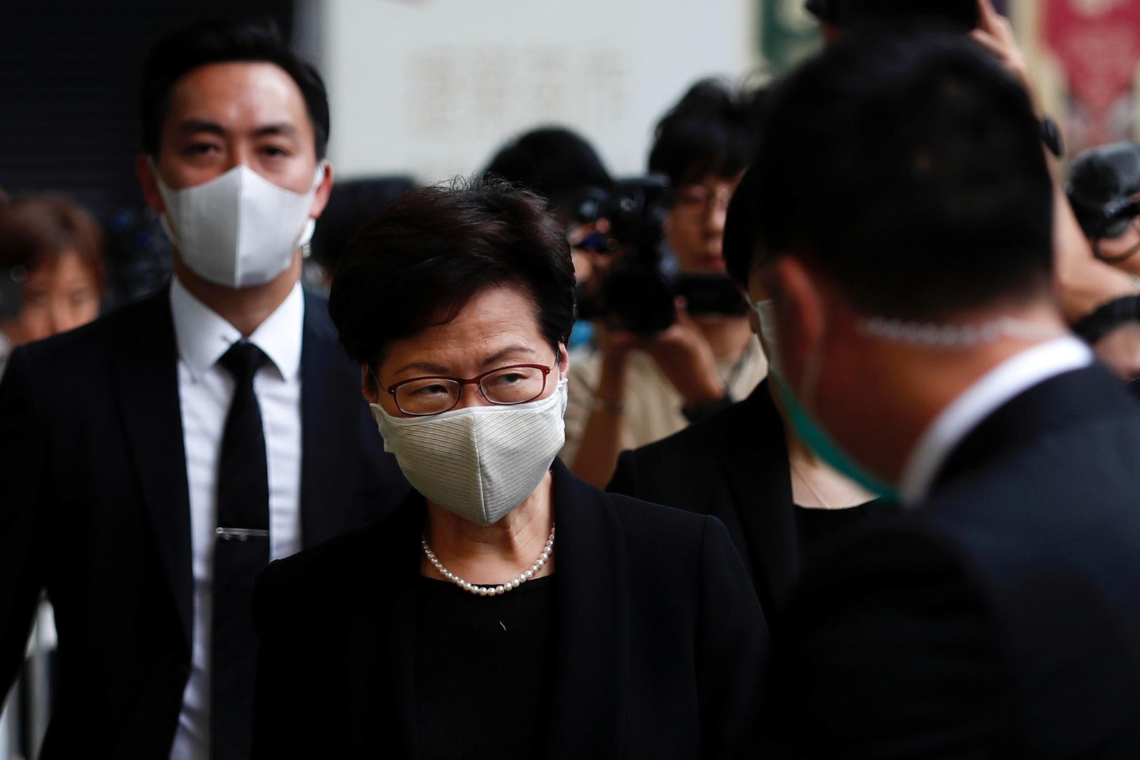 بينهم رئيسة الحكومة المحلية.. عقوبات أمريكية تطال مسؤولين صينيين في هونغ كونغ