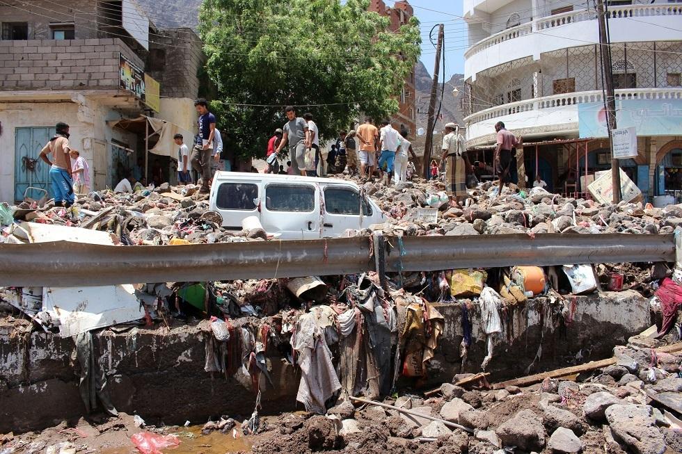 فيضانات في اليمن - أرشيف -