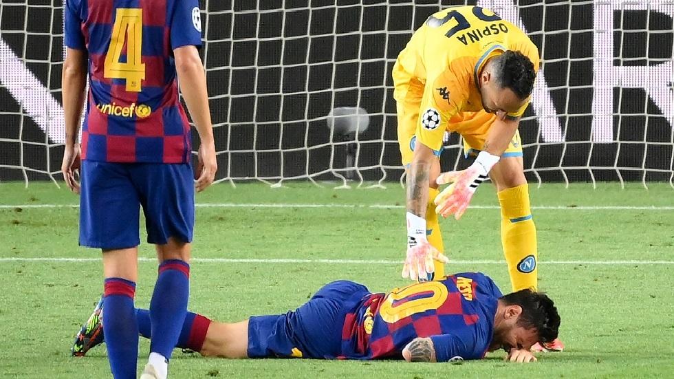 """هل يلحق ميسي بمباراة البايرن؟.. مدرب برشلونة يكشف تفاصيل إصابة """"البرغوث"""""""
