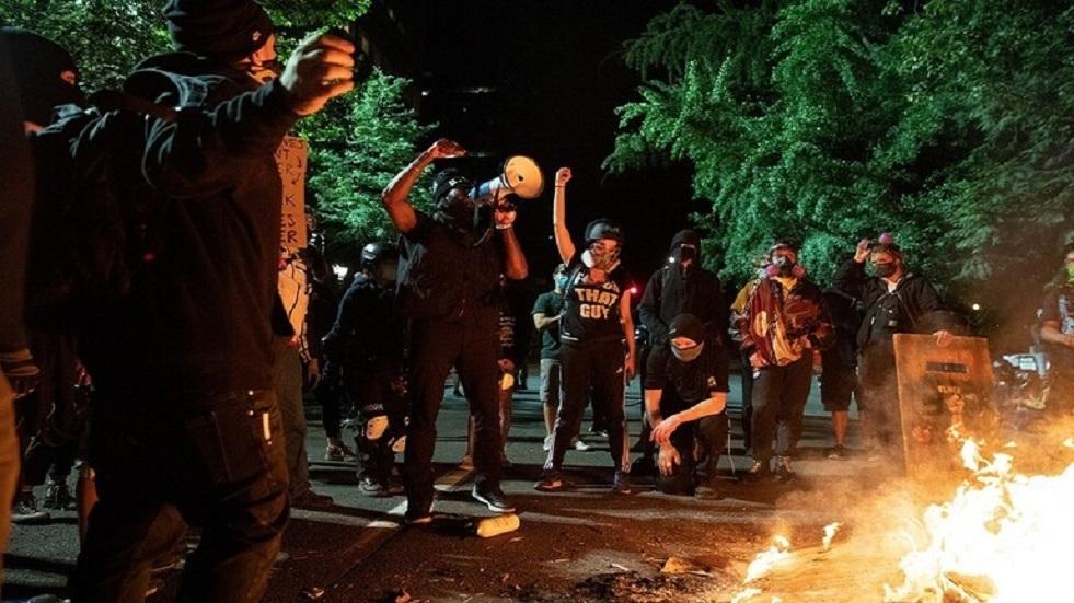 احتجاجات في مدينة بورتلاند الأمريكية