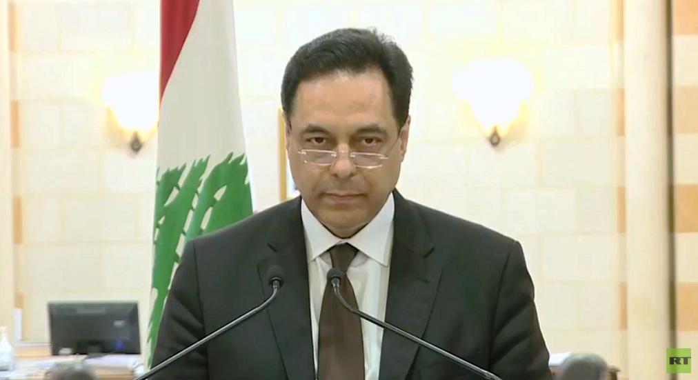 رئيس الوزراء اللبناني المستقيل حسان دياب